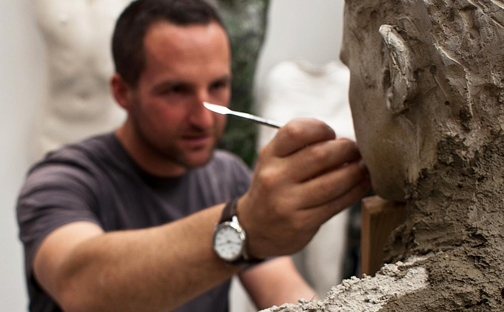 The sculptor at work