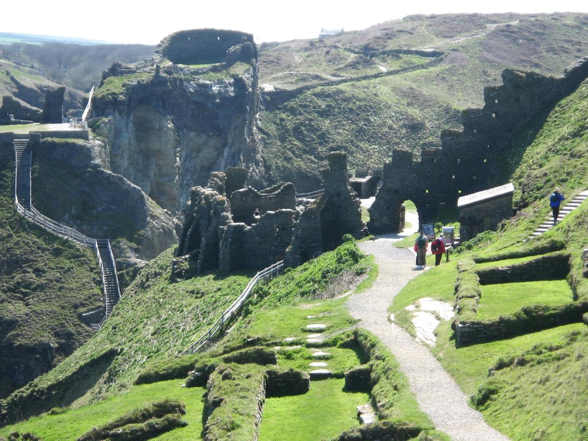 The ancient castle ruins at Tintagel are a popular tourist attraction / Wikipedia