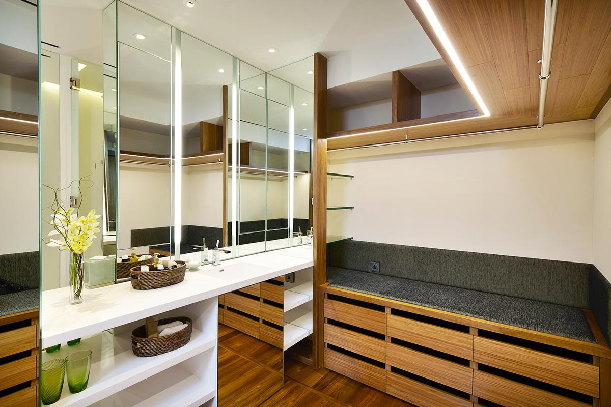 The rooms been completely reconfigured to include a separate wardrobe and dressing room / Chiva-Som