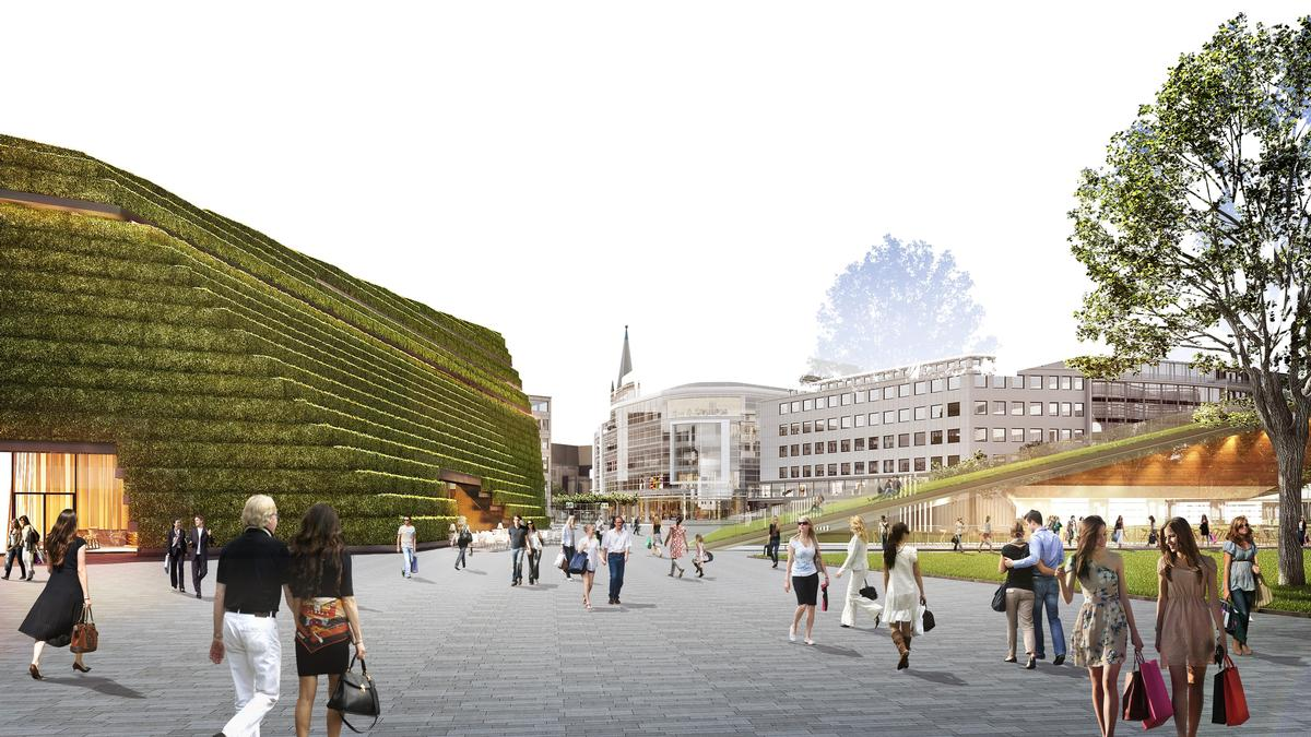 Cadman Düsseldorf ingenhoven architects ready to create vertical park and leisure