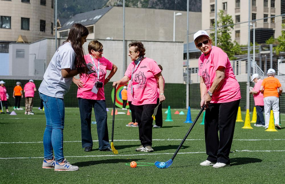 Sports were adapted to make them suitable for elderly people
