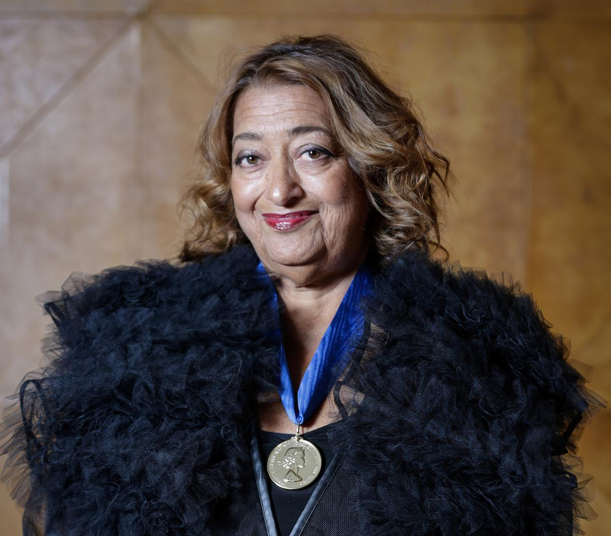Zaha Hadid became the first woman to win the Pritzker Prize and RIBA Gold Medal / Sophie Mutevelian