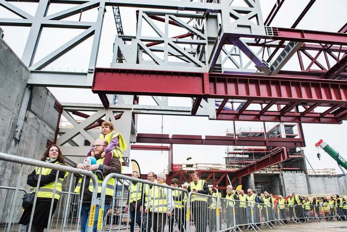 Over 3,000 local citizens and Lego employees in the Danish town of Billund were invited to tour the construction site / Lego Group
