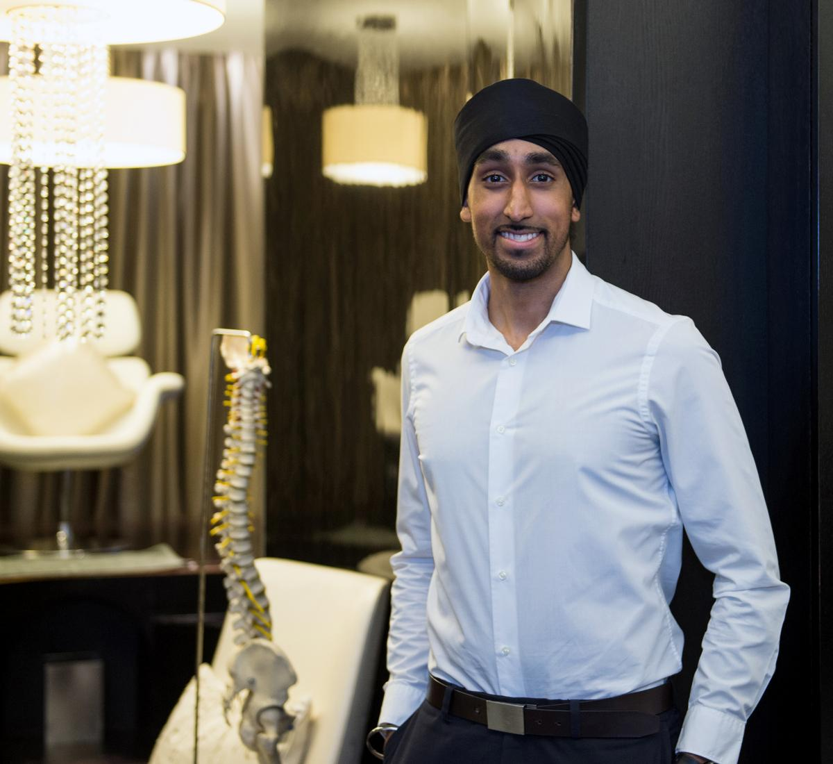 Roopjeet Panesar, one of four new medical massage experts, is a master of osteotherapy and naturotherapy as well as a qualified Kinesio Taping practitioner / ESPA Life at Corinthia