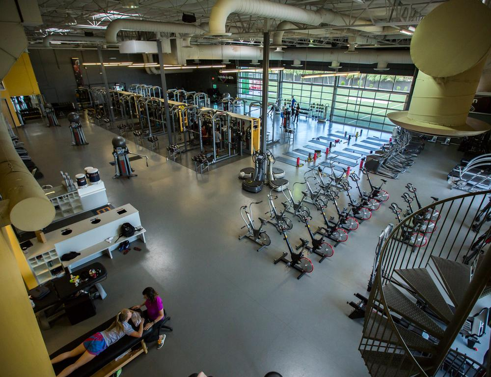 High-end sports labs are integrated with gyms designed to enable top athletes to train to world-class levels