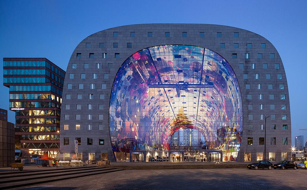 The Markthal Rotterdam by MVRDV functions as a market hall, apartment building and a vast public space. Since opening in 2014, it has won numerous awards / Photo: © Daria Scagliola/Stijn Brakkee