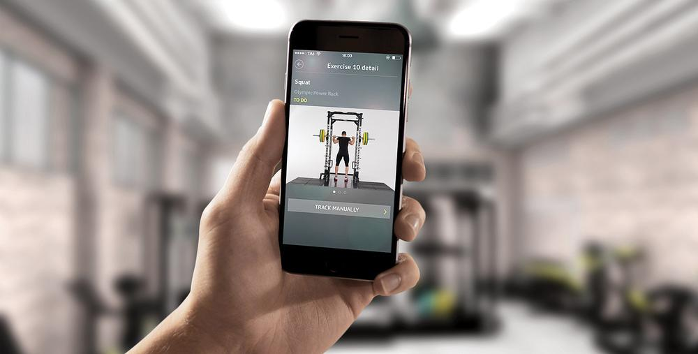 A scan of NFC or QR points on Pure Strength gives access to tutorials