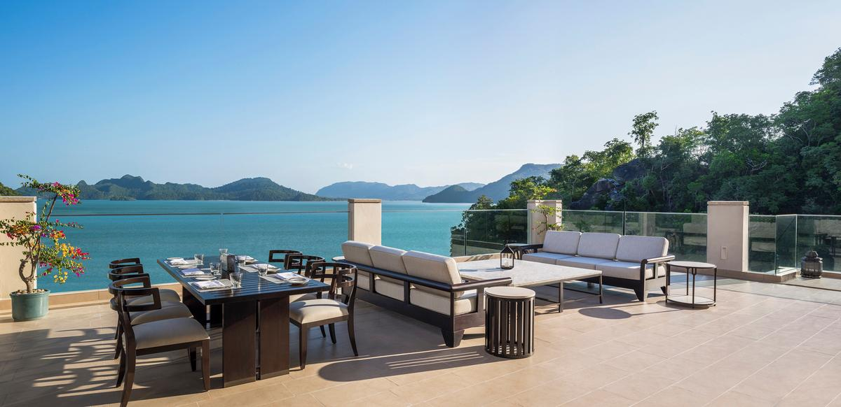 The resort looks out to the Andaman Sea  / St Regis