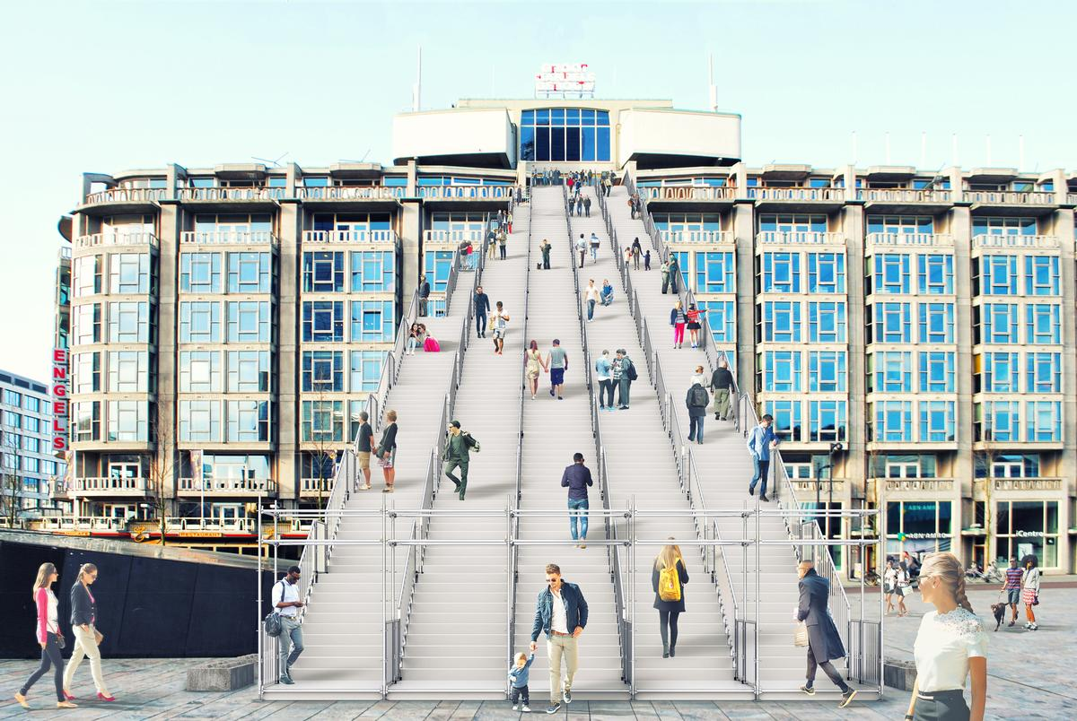 Visitors will clamber up 180 steps to the summit of the Groot Handelsgebouw, which was one of the first major buildings constructed after the bombing of Rotterdam / Antonio Luca Coco