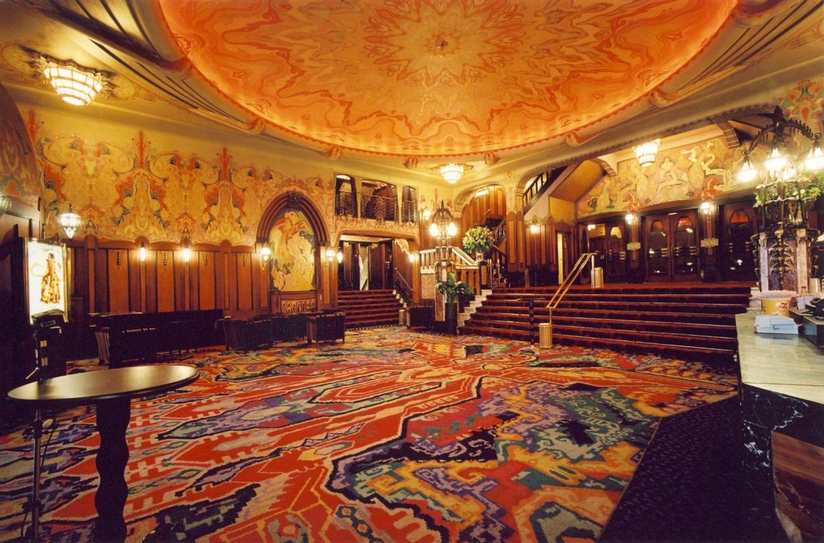 The lobby of the Tuschinski cinema in Amsterdam is a famous example of design from the Amsterdam School / Rappange & Partners