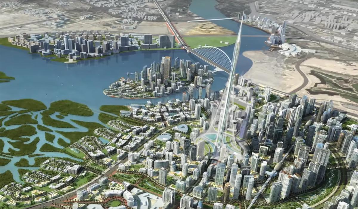 The Tower will be the crentrepiece of Emaar's Dubai Creek Harbour development, a planned 6sq km mini-metropolis / Emaar Properties
