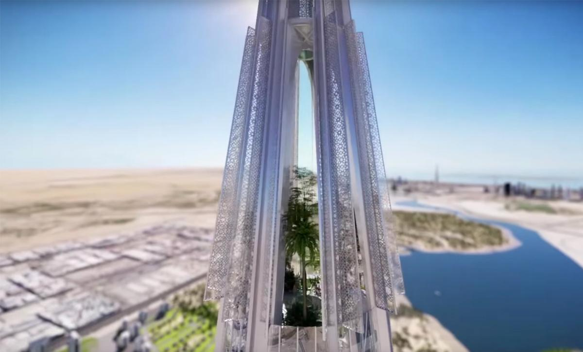 An elevated garden will evoke the Hanging Gardens of babylon / Emaar Properties
