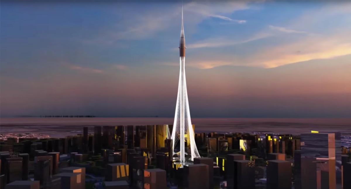 Advanced technology will be used to realise the structure, which is supported by a network of cables / Emaar Properties