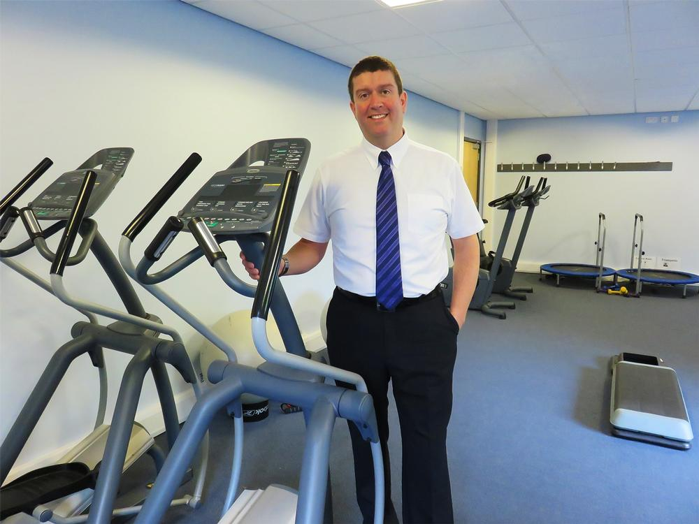 "Morgan: ""Ours is one of the few GP practices in the country with a cardiovascular gym inside it"""