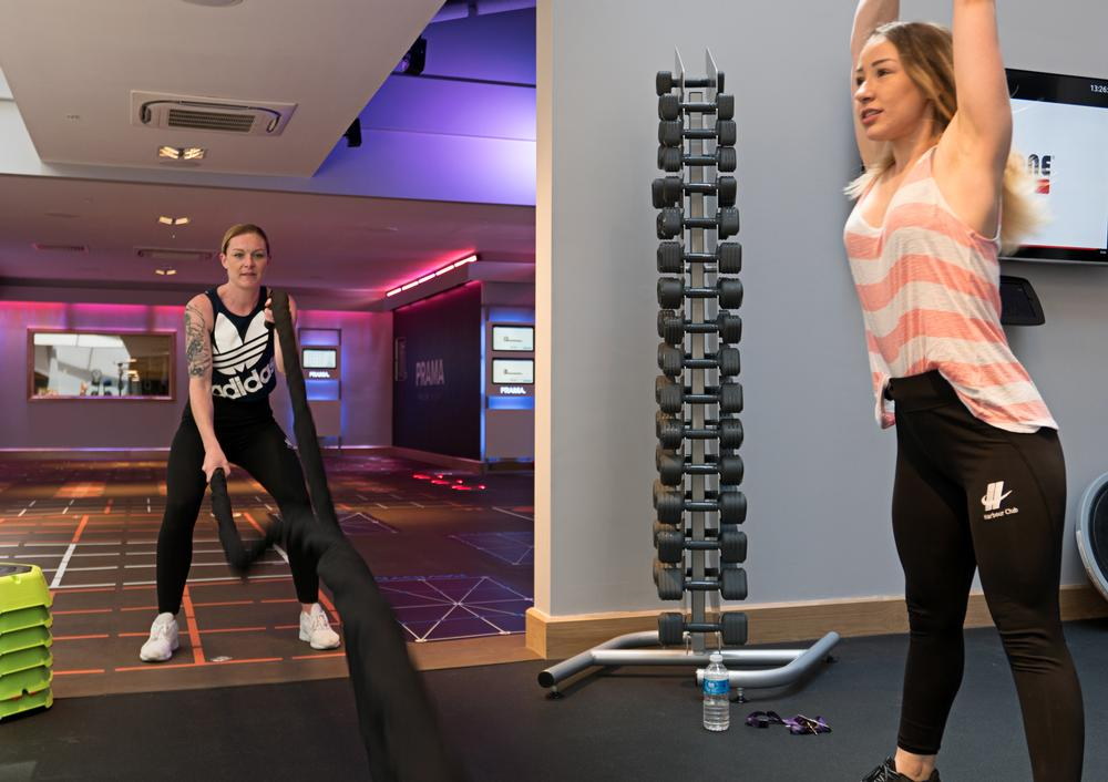 The new Harbour Club offers a series of boutique training spaces on different levels for its members
