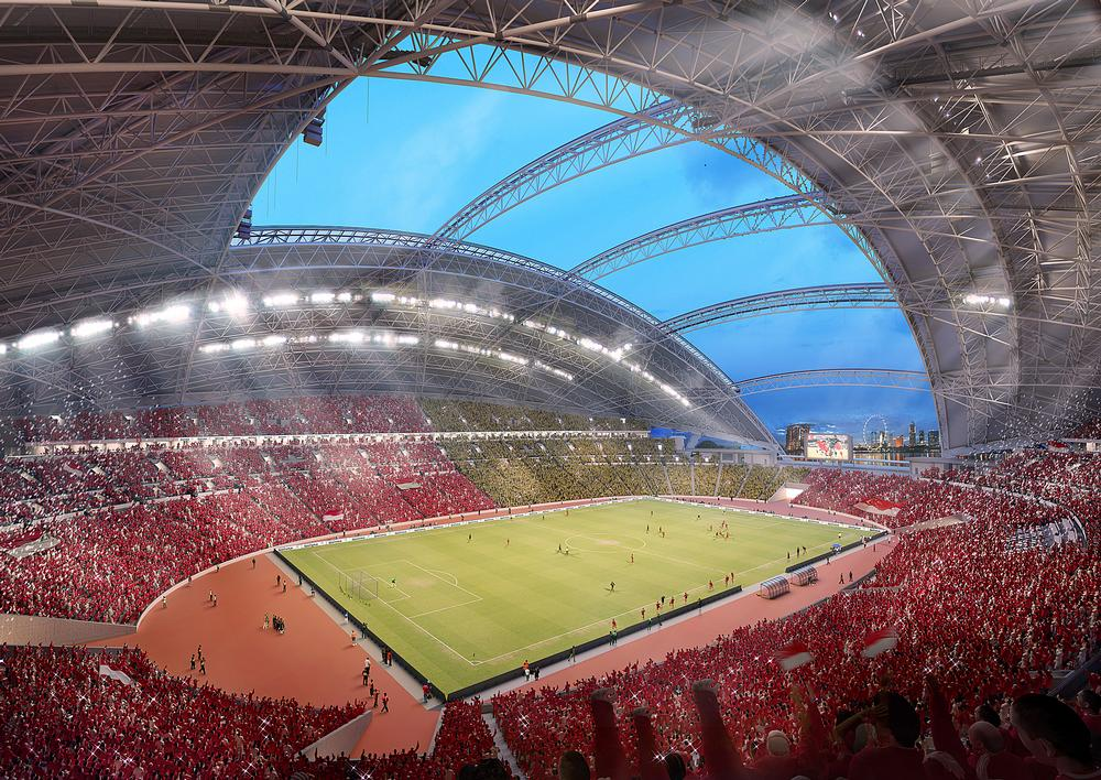 The new National Stadium (above) will be the centrepiece of the Hub.