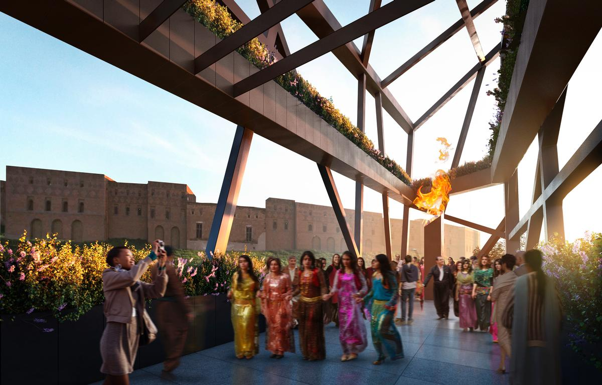 Libeskind said: 'The museum aims to convey the spirit of the Kurdish people, their rich culture and the future of Kurdistan' / Hayes Davidson