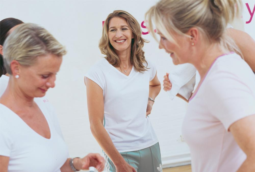 Female brand Mrs.Sporty developed its offer with tennis star Steffi Graf