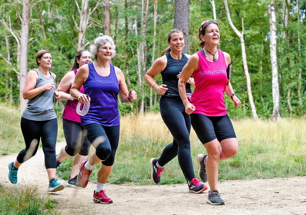 The Runnyhoneys is a running group based in the Healthy New Town of Bordon in Hampshire and two other locations / Photo: Mike Ellis/NHS England
