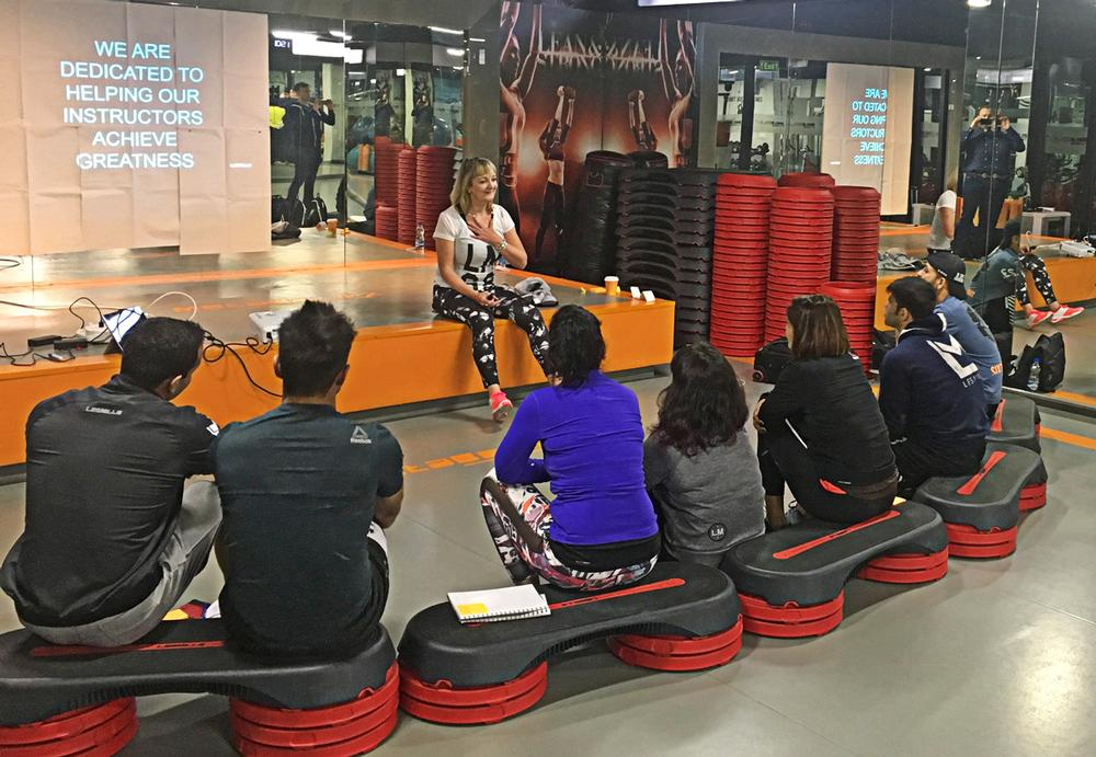 Marnoch says trainers and instructors are the lifeblood of fitness companies like Les Mills