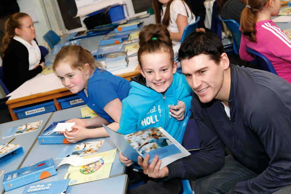Appearances by Manchester City players like Gareth Barry help boost the profile of community initiatives