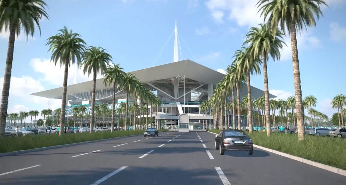 Renovation work will completely revamp the stadium when fully complete in 2017 / Miami Dolphins