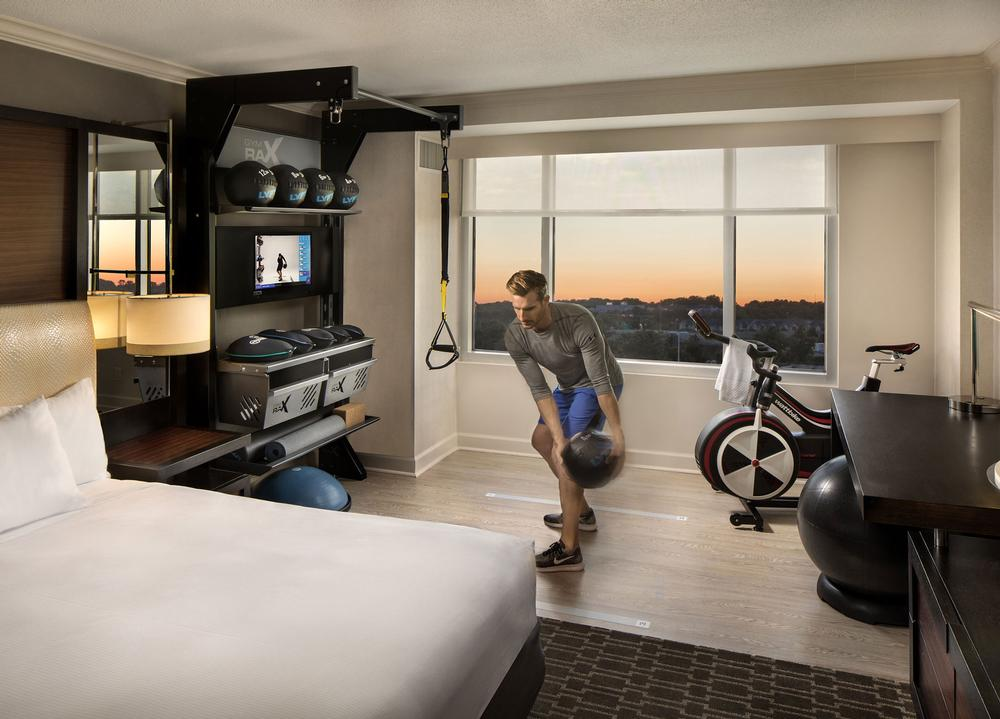 What's in a Hilton fitness room?