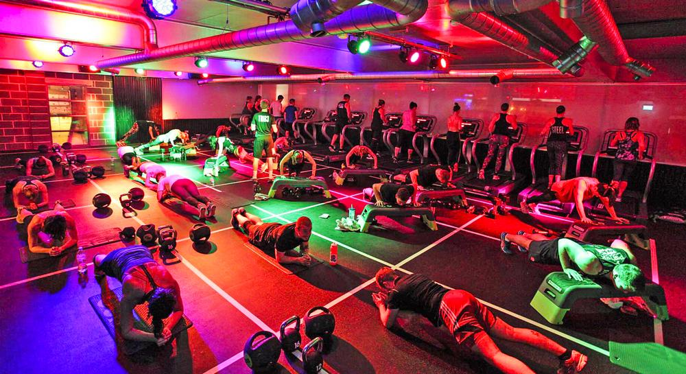 High intensity floor work is one of the main exercise components within the clubs