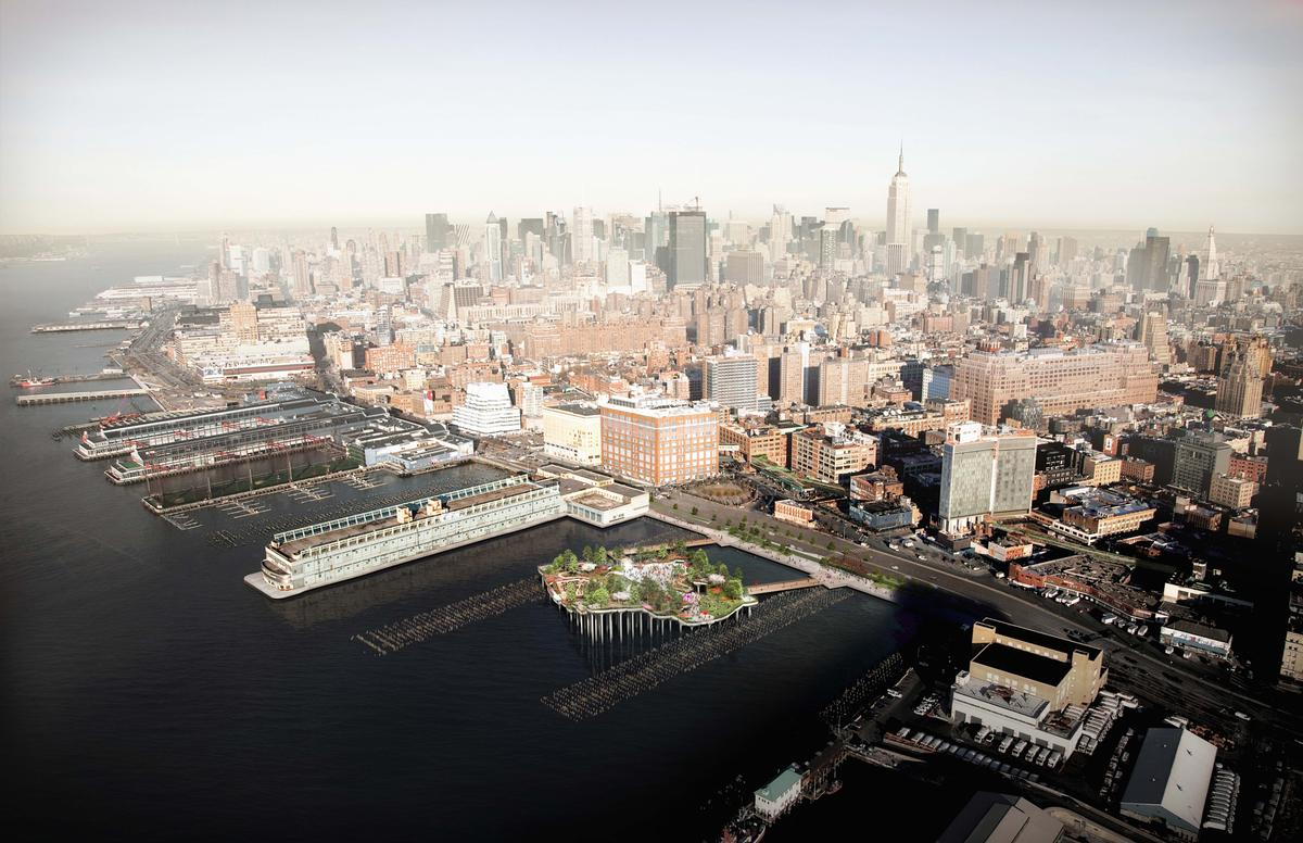 The structure will be built to replace Manhattan's ageing Pier 54 on the Hudson River / Image by Luxigon