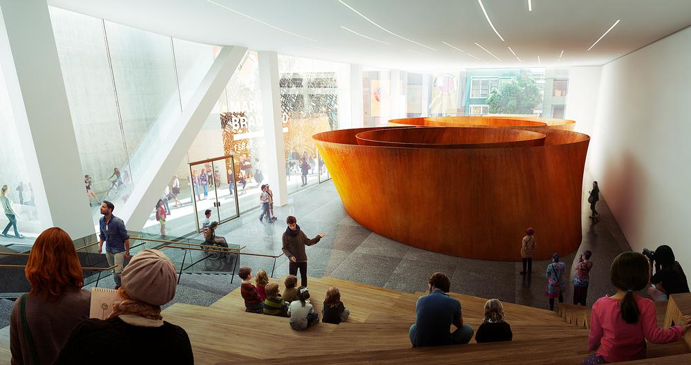 The SFMOMA expansion will see the creation of free, public ground level galleries / SFMOMA IMAGES: © SNOHETTA & MIR