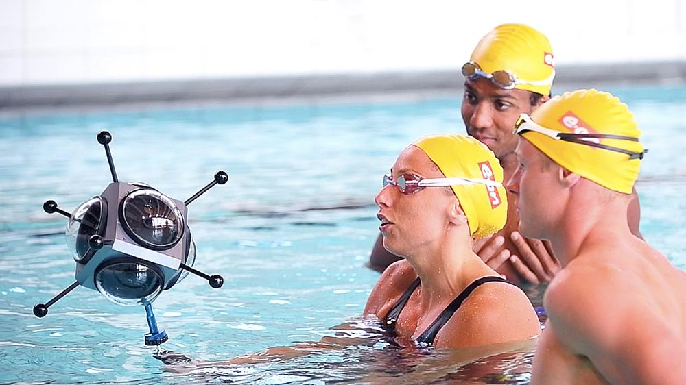 Swedish Olympic swimmers take part in the VR programme