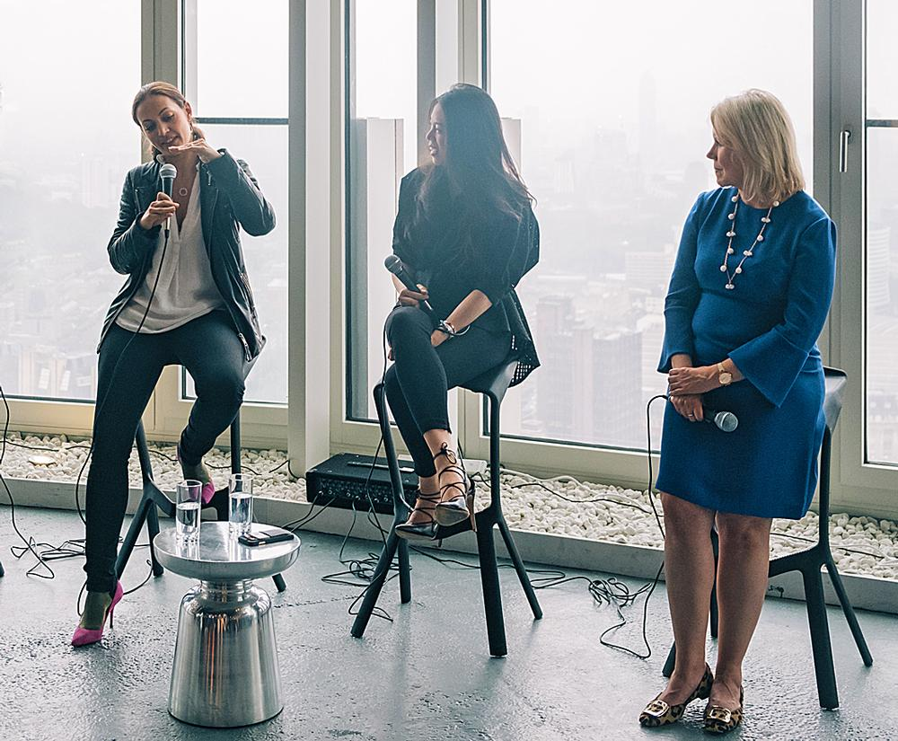 Søgaard recently took part in a business talk in London offering advice to architects, along with Design Haus Liberty founder Dara Huang (centre) and Caroline Roberts, global head of people and talent at Zaha Hadid Architects (right)