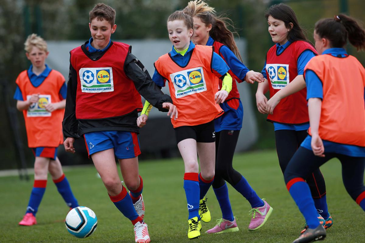 The aim is to have 200,000 Welsh youngsters playing football by 2024