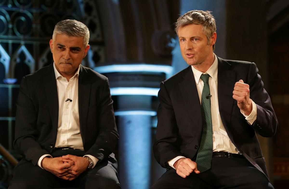 Labour's Sadiq Khan (left) or Conservative candidate Zac Goldsmith (right) will become Mayor of London in May / Press Association