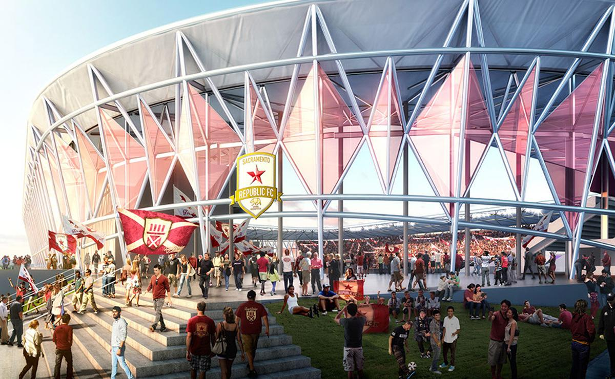 HNTB have designed the stadium to create a 'sense of community' for supporters