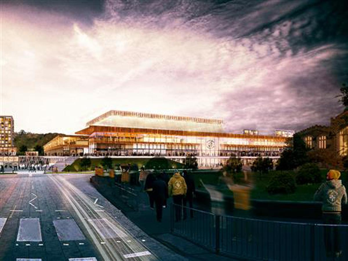 The stadium development will be part of a wider regeneration project in Luton / Luton Town