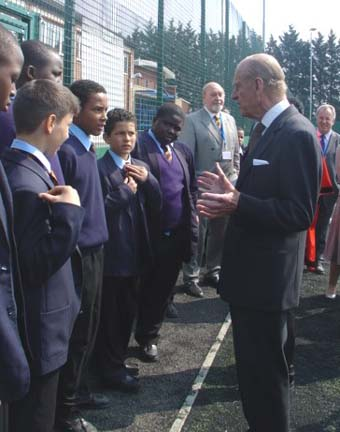 Royal opening for new Banner Sports pitch