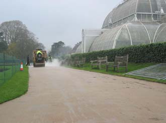 Making tracks to the Palm House