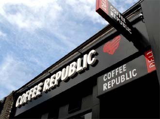 Free Wi-Fi access at Coffee Republic
