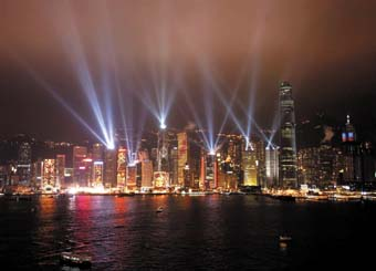 Hong Kong tourism promoted by Laservision