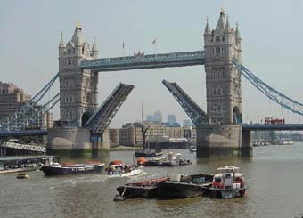 Merlin providing power for towering London icon