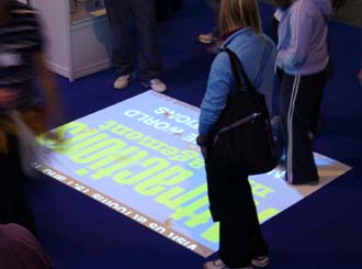 OM Interactive underfoot at LIW