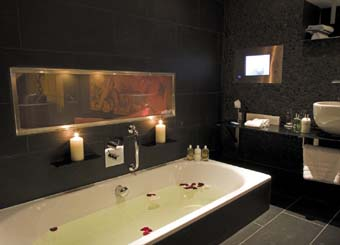 LCD luxury for hotel bathrooms