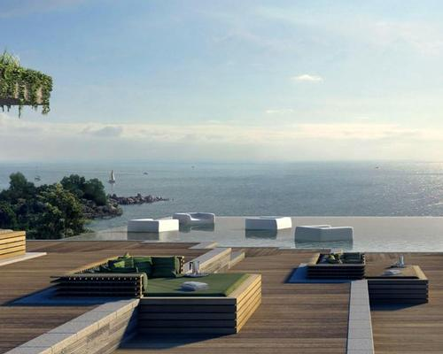 Designed by Singapore-based WOHA architects, the resort is constructed to EarthCheck's environmental standards