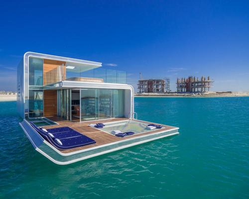 The luxury villas contain three levels, one of which is underwater / Kleindienst Group
