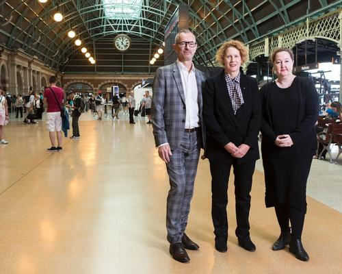 The Art Gallery of New South Wales director, Michael Brand, the Museum of Contemporary Art Australia director, Elizabeth Ann Macgregor, and the Carriageworks director, Lisa Havilah