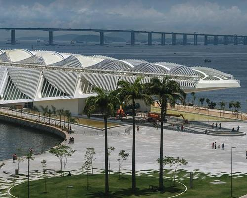 The museum has been designed with side wings covered in solar panels which move through the day so they can catch maximum sunlight