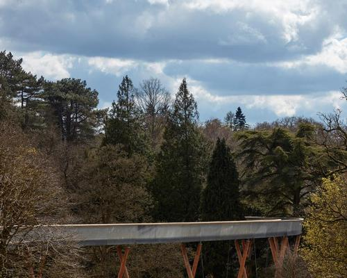 The twisting 300m route weaves through the National Arboretum at Westonbirt, starting and ending at ground level and rising 13m in height / Rob Parrish