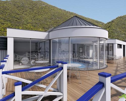 The new Cary Spa will feature a glass-fronted pool and sunbathing deck, offering panoramic vistas along the unspoilt Jurassic coastline
