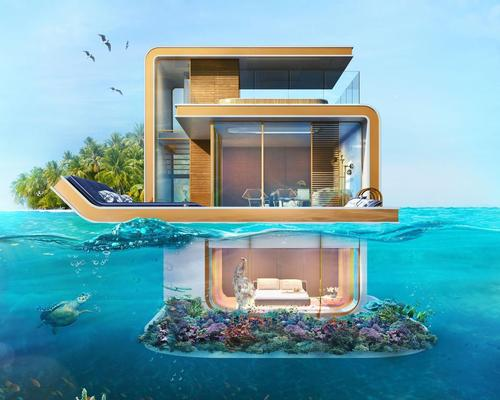The Floating Seahorse is a partially-underwater villa / Floating Seahorse